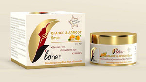 """F'loher ORANGE & APRICOT  Scrub"" - SWHF"