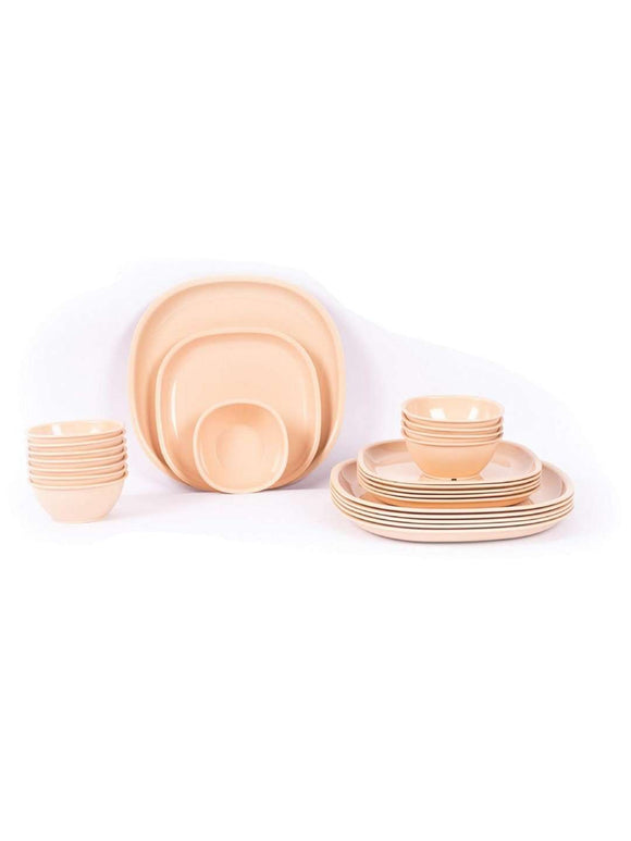 Gluman 24 Piece Dinner Set: Beige - SWHF