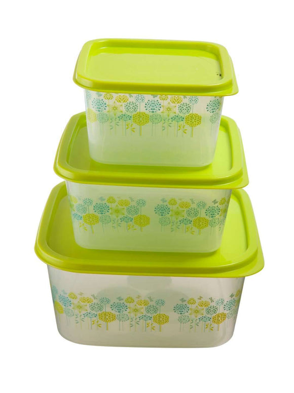 Gluman 3 Piece Nested Container Set : Green - SWHF