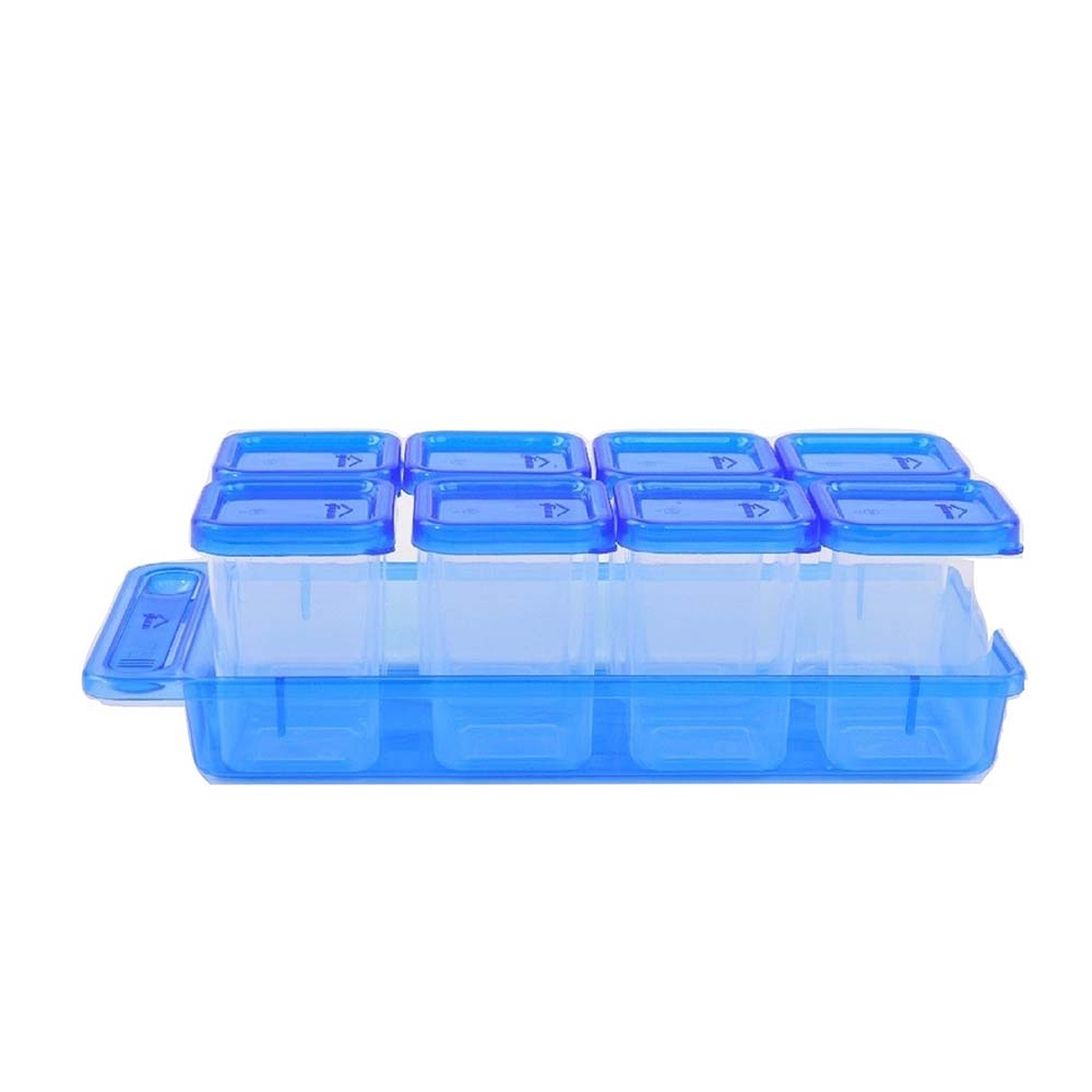 Gluman Masala Container Set (Pack of 8, Blue)