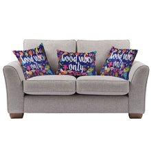 Load image into Gallery viewer, SWHF Velvet Digital Design Decorative Sofa Couch Chair Bed Cushion Cover Set of 3 - Good Vibes Only