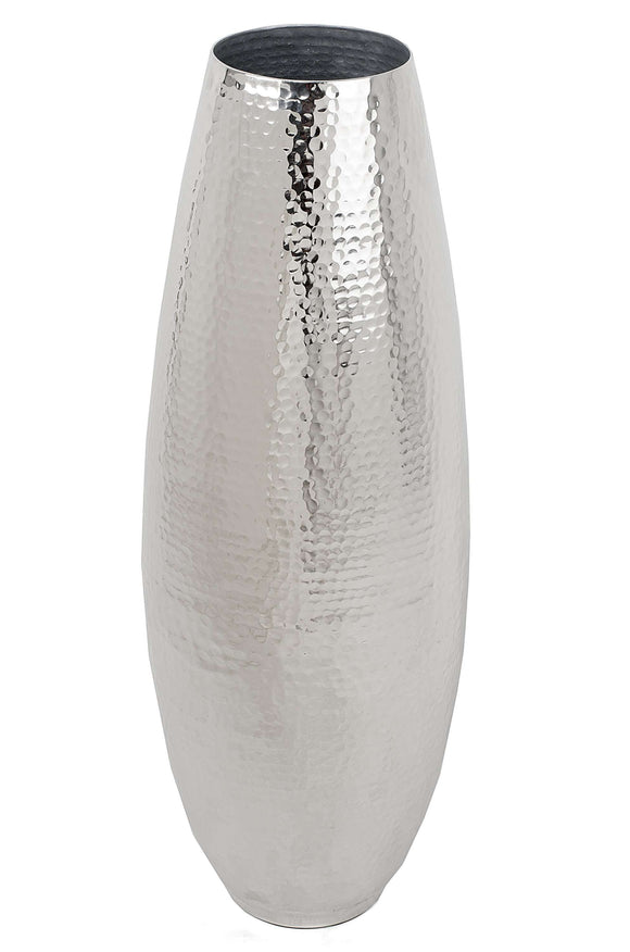 SWHF Large Silver Hammered Metal Vase - SWHF