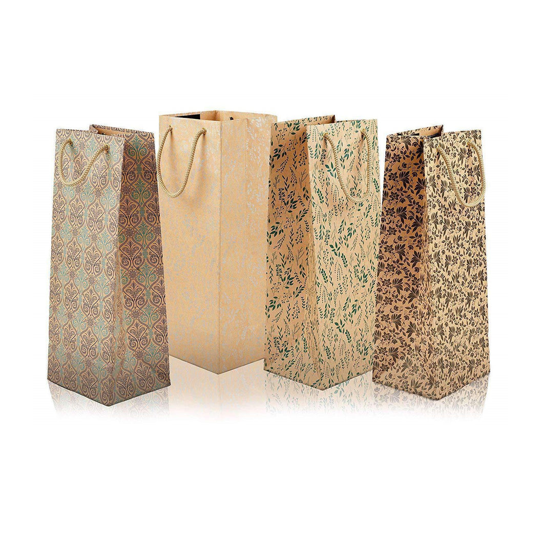 SWHF Set of 4 Wine and Gift Bags : Multi