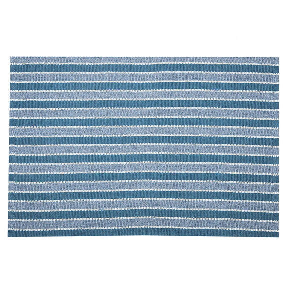 SWHF Double Twisted Cotton Rug: Stripe Green - SWHF