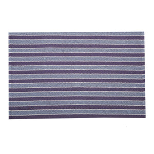SWHF Double Twisted Cotton Rug: Stripe Purple - SWHF