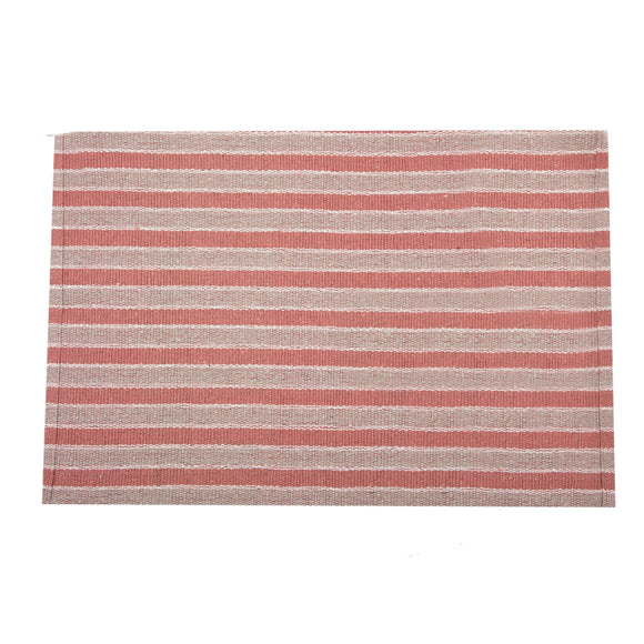 SWHF Double Twisted Cotton Rug: Stripe Orange - SWHF