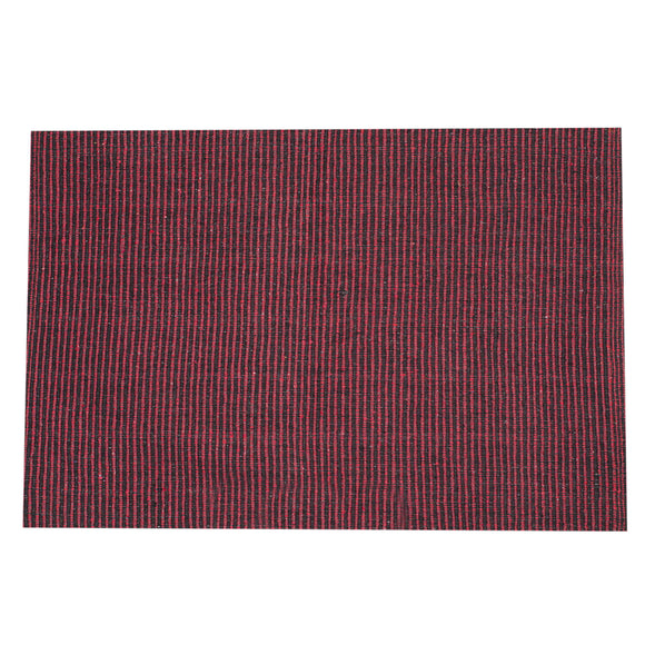 SWHF Double Twisted Cotton Rug: Ribbed Red - SWHF