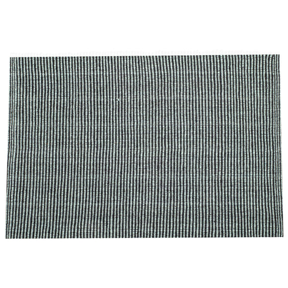 SWHF Double Twisted Cotton Rug: Ribbed Green - SWHF