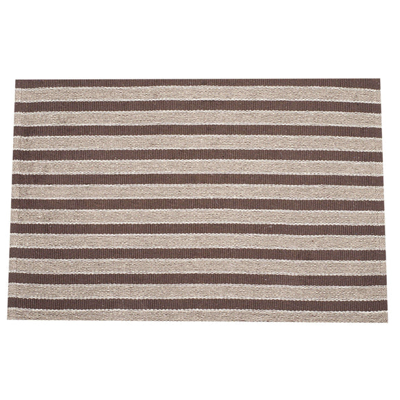 SWHF Double Twisted Cotton Rug: Stripe Brown - SWHF