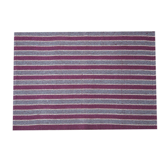 SWHF Double Twisted Cotton Rug: Stripe Pink - SWHF