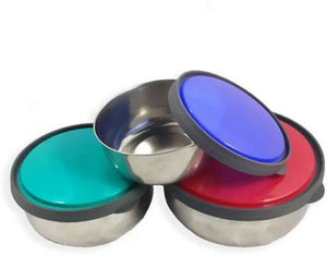 SWHF Stainless Steel Food Storage Airtight & Leak Proof Bowl Set (Pack of 3,Multicolor)… - SWHF