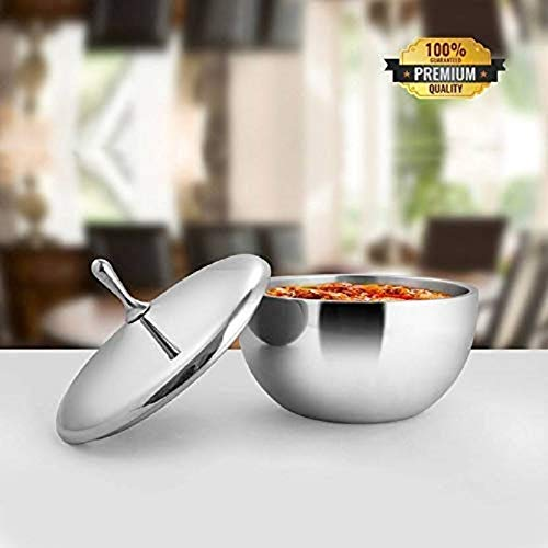 SWHF Stainless Steel Premium Quality Double Walled Serving Bowl - SWHF