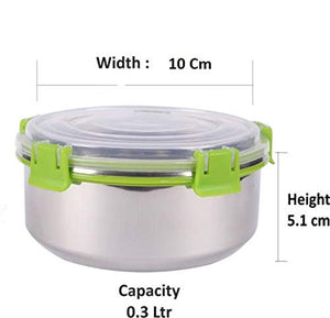 SWHF Stainless Steel Smart Lock Tiffin/Lunch Box (300 ml, 10 cm, Green) - SWHF