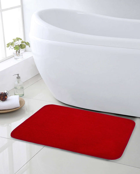 SWHF Premium Microfibre Anti Skid Anti Slip Multi Purpose Mat:  Red