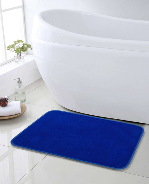 SWHF Premium Microfibre Anti Skid Anti Slip Multi Purpose Mat:  Navy Blue