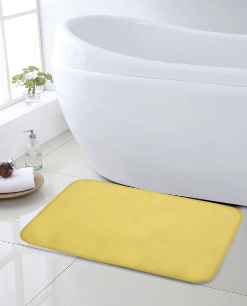 SWHF Premium Microfibre Anti Skid Anti Slip Multi Purpose Mat: Yellow