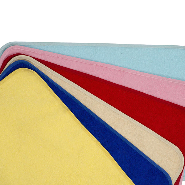 SWHF Premium Microfibre Anti Skid Anti Slip Multi Purpose Mat Set of 6:  Multi - SWHF