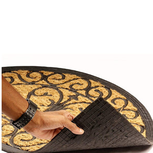 SWHF Rubber and Coir Mat: Semi Circle - SWHF