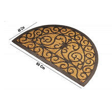 Load image into Gallery viewer, SWHF Premium Coir and Rubber Quirky Design Door and Floor Mat (70X40 Cm CM, Semi Circle) - SWHF