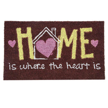 Load image into Gallery viewer, SWHF Premium Coir and Rubber Quirky Design Door and Floor Mat : Home is Where the Heart is - SWHF