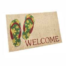 Load image into Gallery viewer, SWHF Premium Coir and Rubber Quirky Design Door and Floor Mat : Flip-Flop Welcome - SWHF