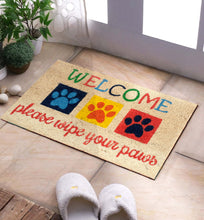 Load image into Gallery viewer, SWHF Premium Coir Mat: Please Wipe Your Paws - SWHF