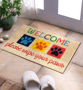 SWHF Premium Coir Mat: Please Wipe Your Paws - SWHF