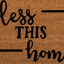 Load image into Gallery viewer, SWHF Coir Door Mat with Anti Skid Rubberized Backing:Brown (Bless This Home) - SWHF
