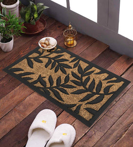 SWHF Premium Coir and Rubber Door Mat: Leaves - SWHF