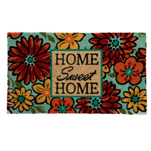 SWHF Coir Door Mat with Anti Skid Rubberized Backing: Multi (Home Sweet Home) - SWHF