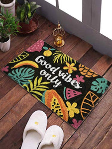<h4>SWHF Coir Door Mat with Anti Skid Rubberized Backing: (Good Vibes Only)</h4>