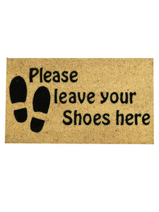 <h4>SWHF Coir Door Mat with Anti Skid Rubberized Backing: (Please Leave Your Shoes here)</h4>