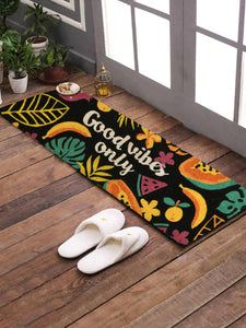 <h4>SWHF Premium Coir and Rubber Quirky Design Door and Floor Mat (40 x 120 cm, Good Vibes Only)</h4>