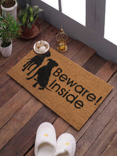Load image into Gallery viewer, SWHF Coir Door Mat with Anti Skid Rubberized Backing: Multi (Beware ! Inside) - SWHF