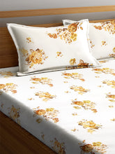 Load image into Gallery viewer, <h4>SWHF Chic Home Premium Cotton180 TC Printed Double Bedsheet with Two Pillow Cover (Yellow)</h4>