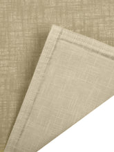 Load image into Gallery viewer, SWHF Chic Home Pure Beige Linen Reversible Table Linen Set: 4 Tablemats/Placemats, 1 Table Runner with 8 Large Dinner Napkins and 8 Small Cocktail Napkin