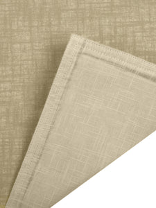 SWHF Chic Home Pure Beige Linen Reversible Table Linen Set: 4 Tablemats/Placemats, 1 Table Runner with 8 Large Dinner Napkins and 8 Small Cocktail Napkin