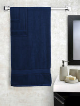 Load image into Gallery viewer, SWHF Chic Home Casual Bath, Hand and Washcloth Terry Navy Blue Towel- Set of 6