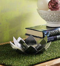 Load image into Gallery viewer, SWHF Lotus Candle Holder: Silver - SWHF