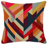 SWHF Velvet Printed Cushion Cover, Set of 5:Maroon - SWHF