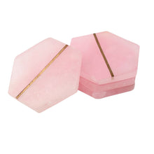 Load image into Gallery viewer, SWHF Handmade Marble Tea/Coffee/Cocktail Coaster Set of 4 (Pink)