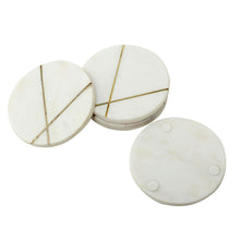 Load image into Gallery viewer, SWHF Handmade Marble Tea/Coffee/Cocktail Coaster Set of 4 (White)