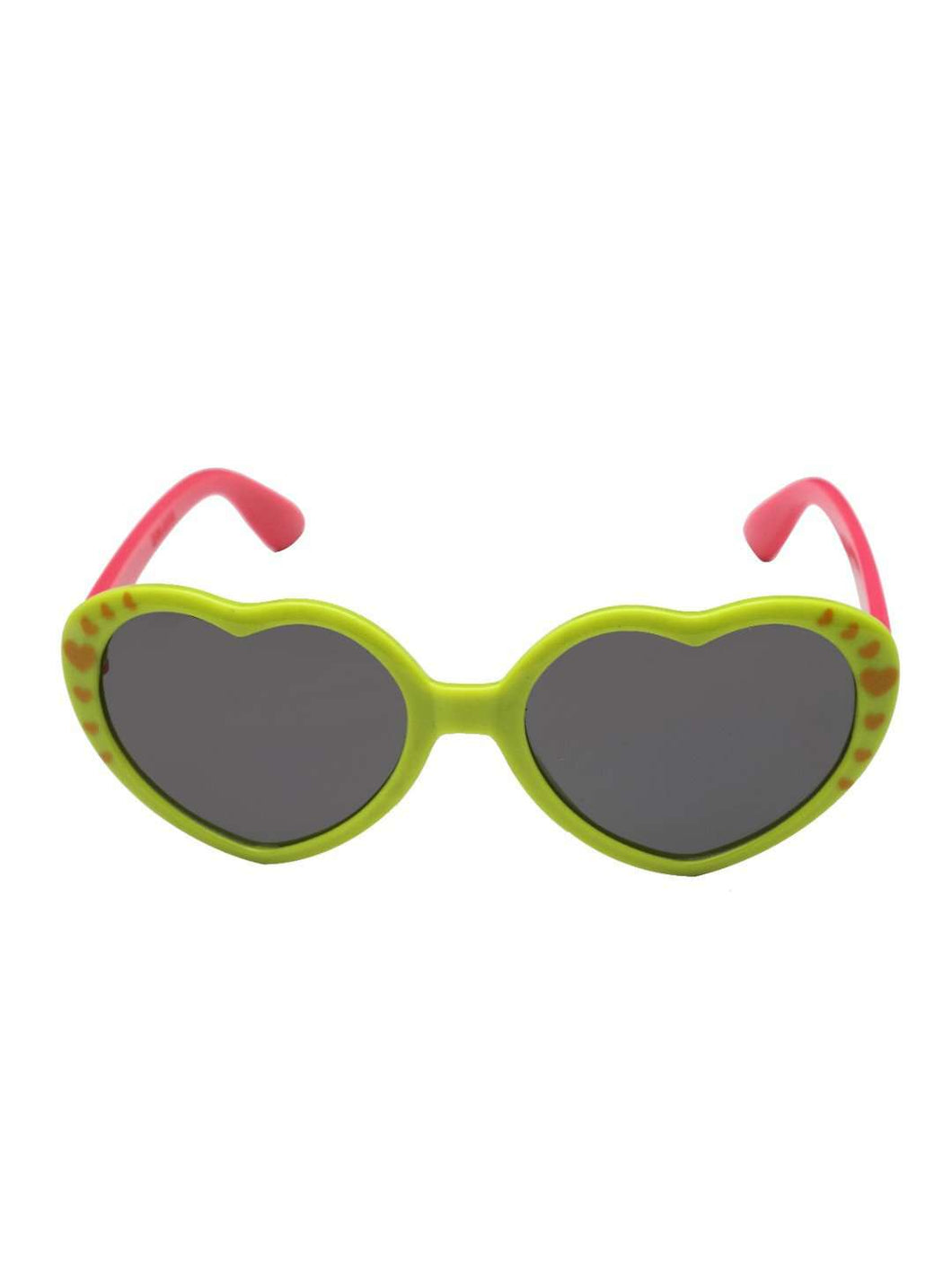Stol'n Kids Green and Pink Heart Sunglasses - SWHF