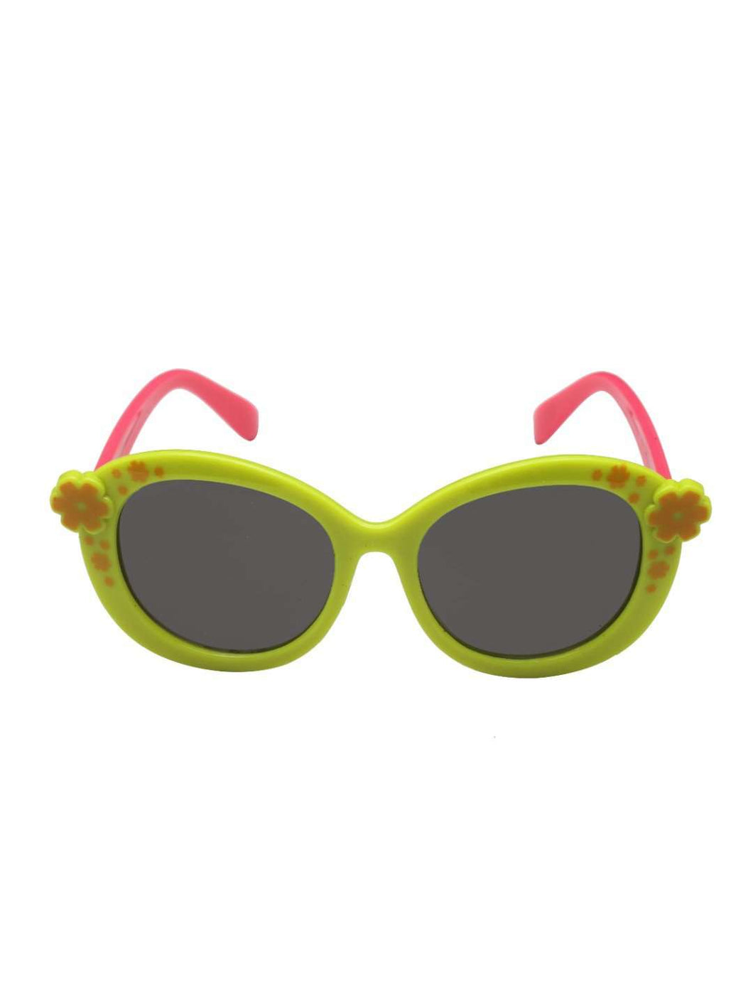 Stol'n Kids Green and Pink Flower Oval Sunglasses - SWHF