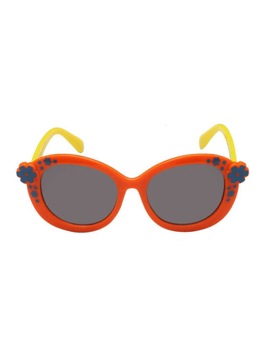 Stol'n Kids Orange and Yellow Flower Oval Sunglasses - SWHF