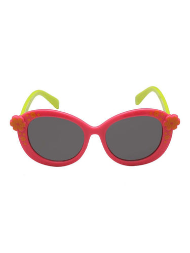 Stol'n Kids Pink and Green Flower Oval Sunglasses - SWHF