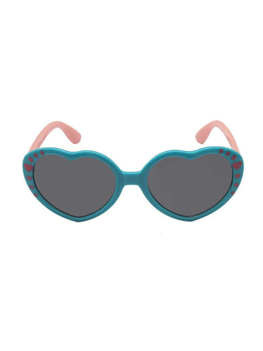 Stol'n Kids Blue and Pink Heart Sunglasses - SWHF