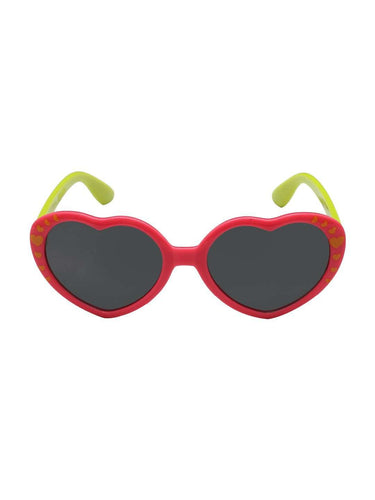 Stol'n Kids Pink and Green Heart Sunglasses - SWHF