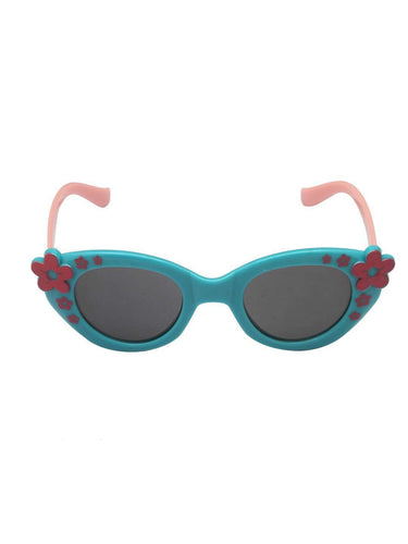 Stol'n Kids Blue and Pink Flower Cat Eye Sunglasses - SWHF