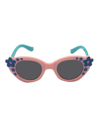 Stol'n Kids Pink and Blue Flower Cat Eye Sunglasses - SWHF